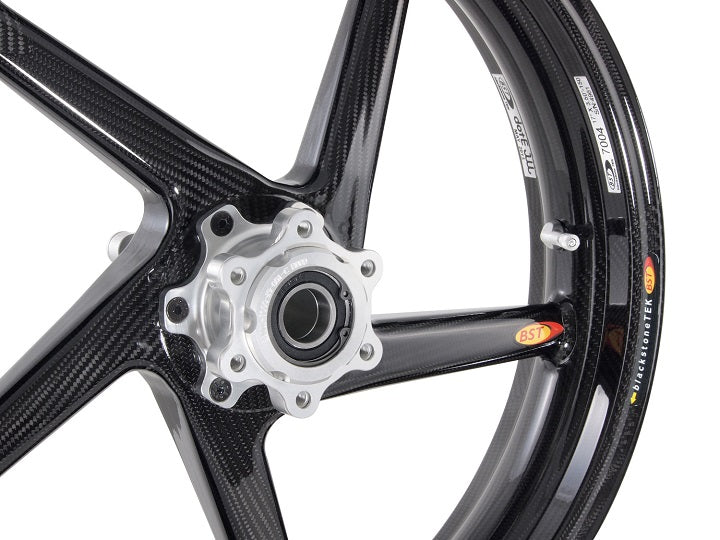 "BST 3.5"" x ""17 5 Spoke Slanted Carbon Fiber Front Wheel for 2013 BMW S1000RR HP4"
