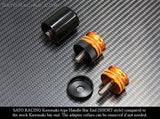 Sato Racing Short-Style Barends for Kawasaki & BMW | Size M8