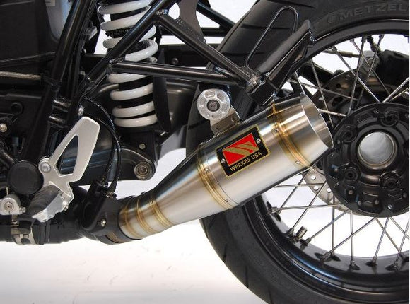 Competition Werkes GP Stainless Steel Slip-on Exhaust 2014-2017 BMW R nine T | WB1200