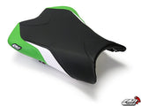 LuiMoto Team Kawasaki Seat Cover 2008-2010 Kawasaki ZX10R - Cf Black/White/Green