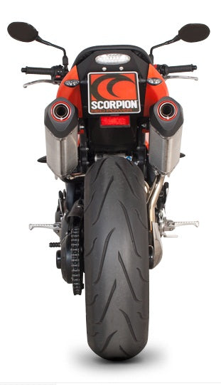 Scorpion Serket Parallel Slip-on Exhaust System '05-'10 Triumph Speed Triple 1050