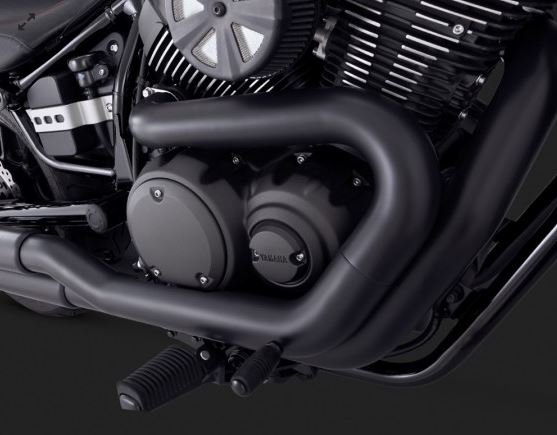 Vance & Hines Twin Slash Staggered (Black) Full Exhaust System For 2014-2015 Yamaha Bolt / R-Spec / C-Spec [48531]