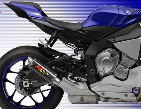 Hotbodies Racing MGP Growler Carbon Slip-on Exhaust for 2015-2016 Yamaha R1/R1M