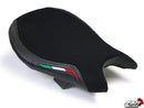LuiMoto Team Italia Suede Leather Front Seat Cover 2009-2015 Ducati Streetfighter - Black Stitching