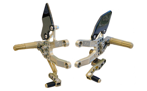 Attack Performance Adjustable Rearsets 2007-2012 Triumph Daytona 675 - Gold
