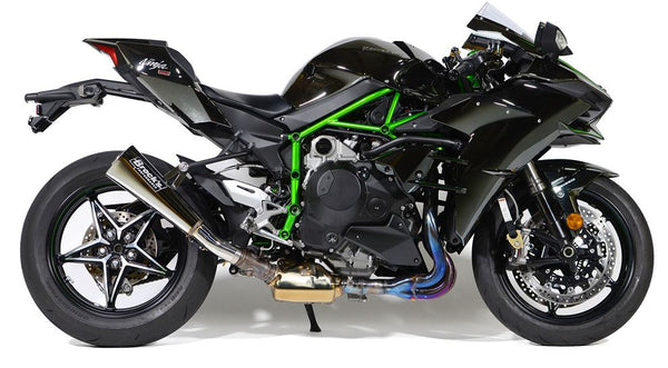 Brock Performance Alien Head2 Slip-On Exhaust for 2015 Kawasaki Ninja H2 - Polished
