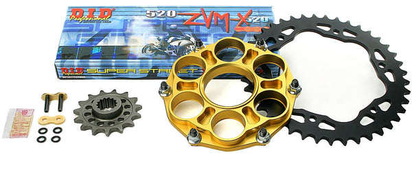 Drive Systems Superlite RS8-R 520 Conversion Alloy Quick Change Race Kit w.D.i.D Racing Chain for Ducati 1199/1299 Panigale