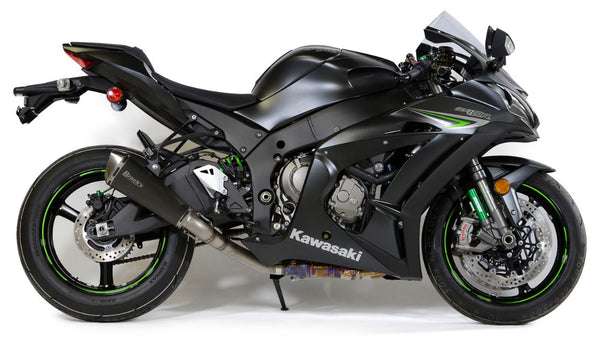 Brocks Performance Predator Electro Black Slip-On (3/4 System) Exhaust 2016+ Kawasaki ZX10R | 570763