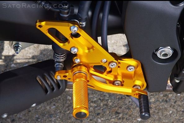Sato Racing Adjustable Rearsets (Standard Shift) for '10-'14 Yamaha FZ8 non-ABS, '06-'14 FZ1