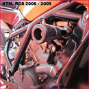 GB Racing No-Cut Frame Slider Kit for '08-'16 KTM RC8, RC8R