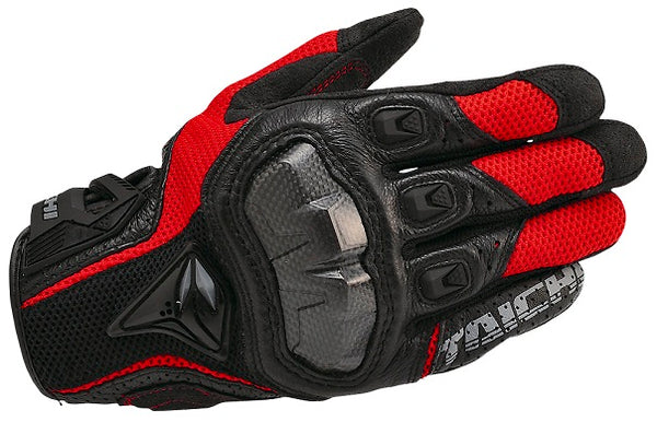RS Taichi RST391 Armed Mesh Gloves Black/Red