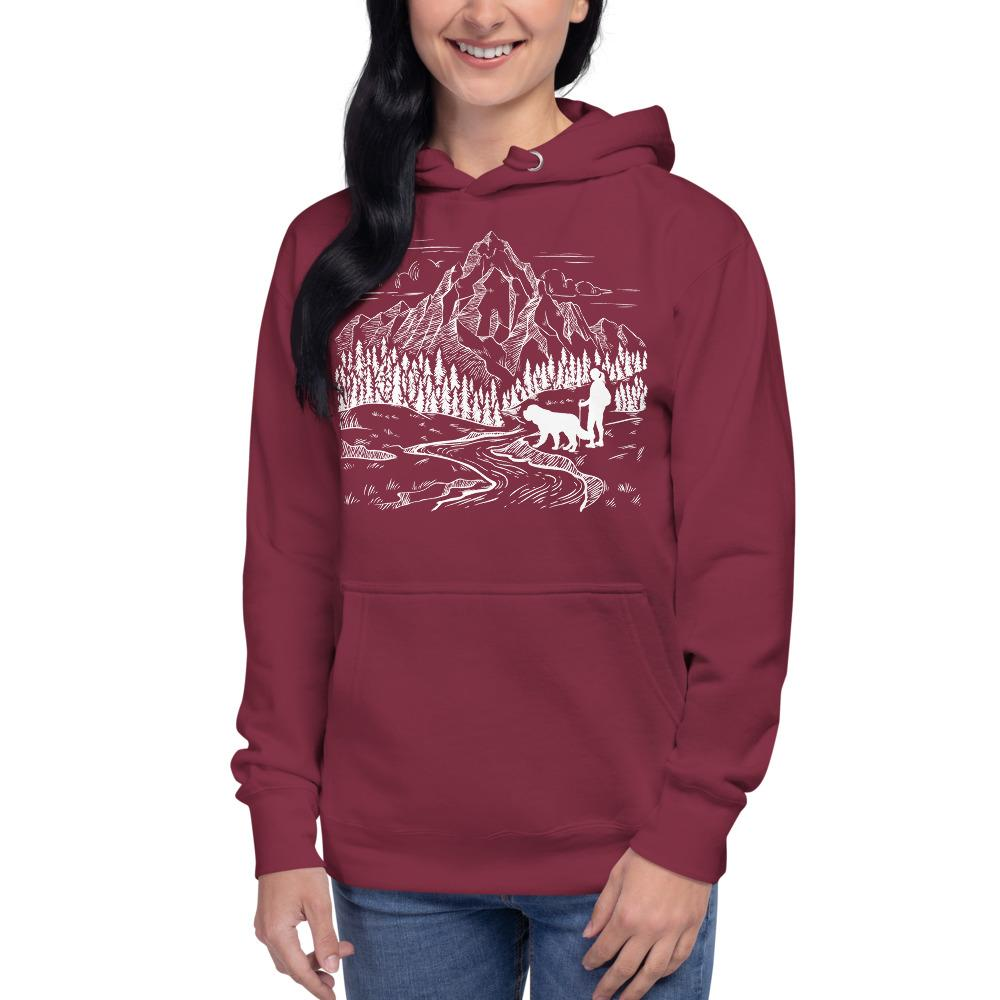 Big Dog Mom Adventures Hoodie - Lucy + Norman