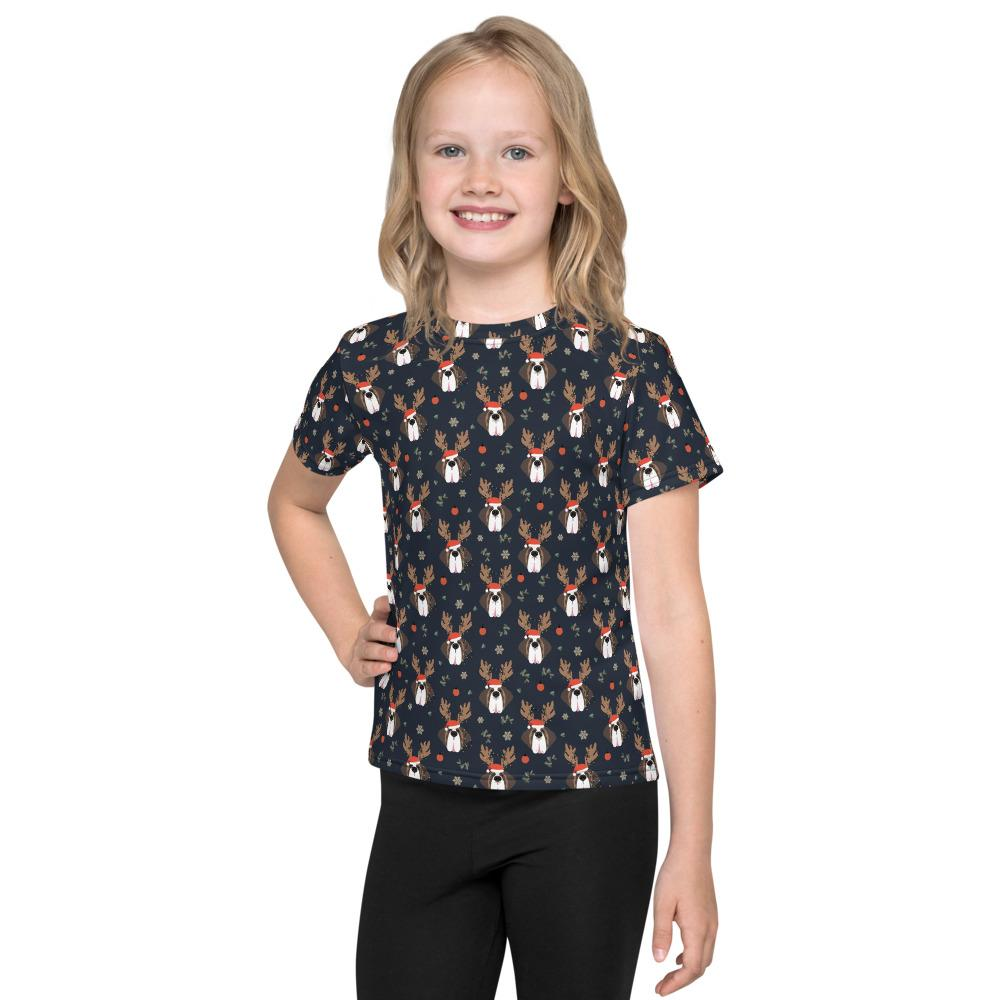 Christmas Saints Pattern Kids T-Shirt - Lucy + Norman