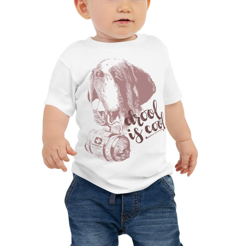 Drool is Cool St Bernard Norman Baby Jersey Short Sleeve Tee - Lucy + Norman
