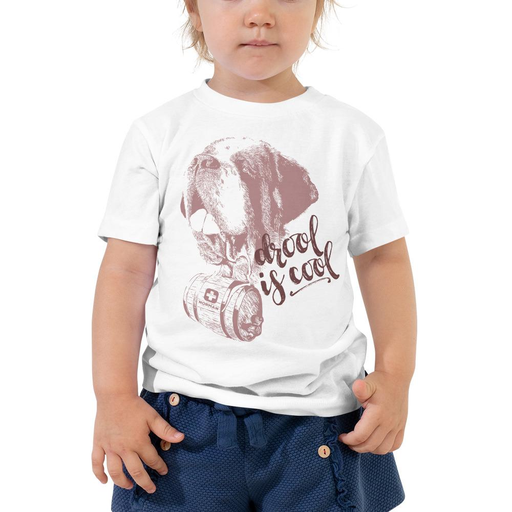 Drool is Cool St Bernard Norman Toddler Short Sleeve Tee - Lucy + Norman