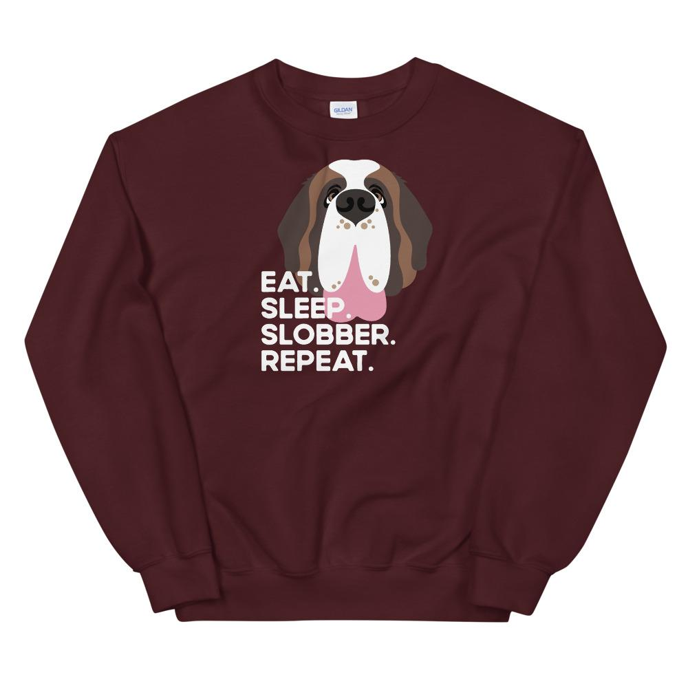 Eat Sleep Slobber Repeat Sweatshirt - Lucy + Norman