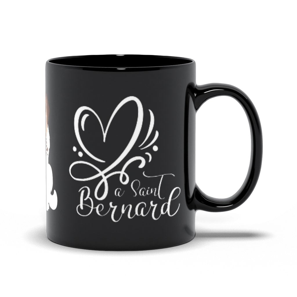 Love a Saint Bernard Black Mug - Lucy + Norman