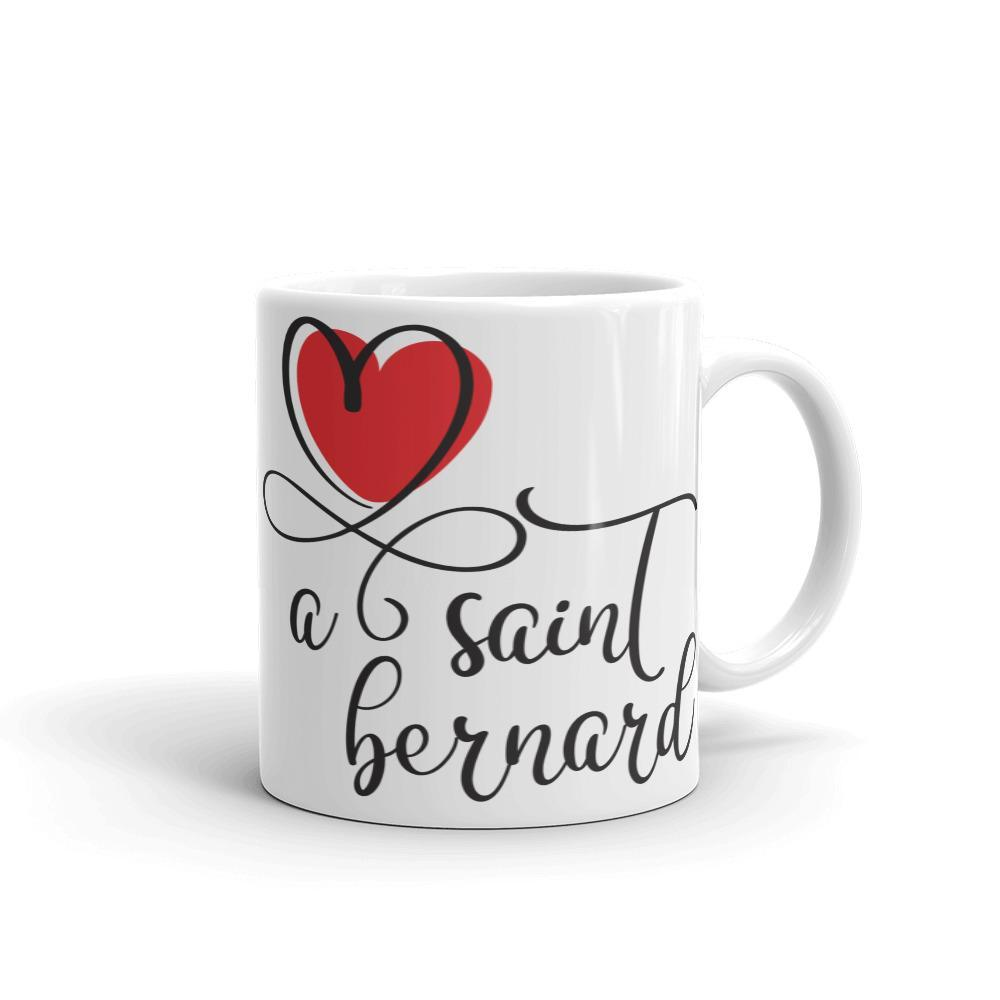 Love a Saint Bernard White Mug - Lucy + Norman