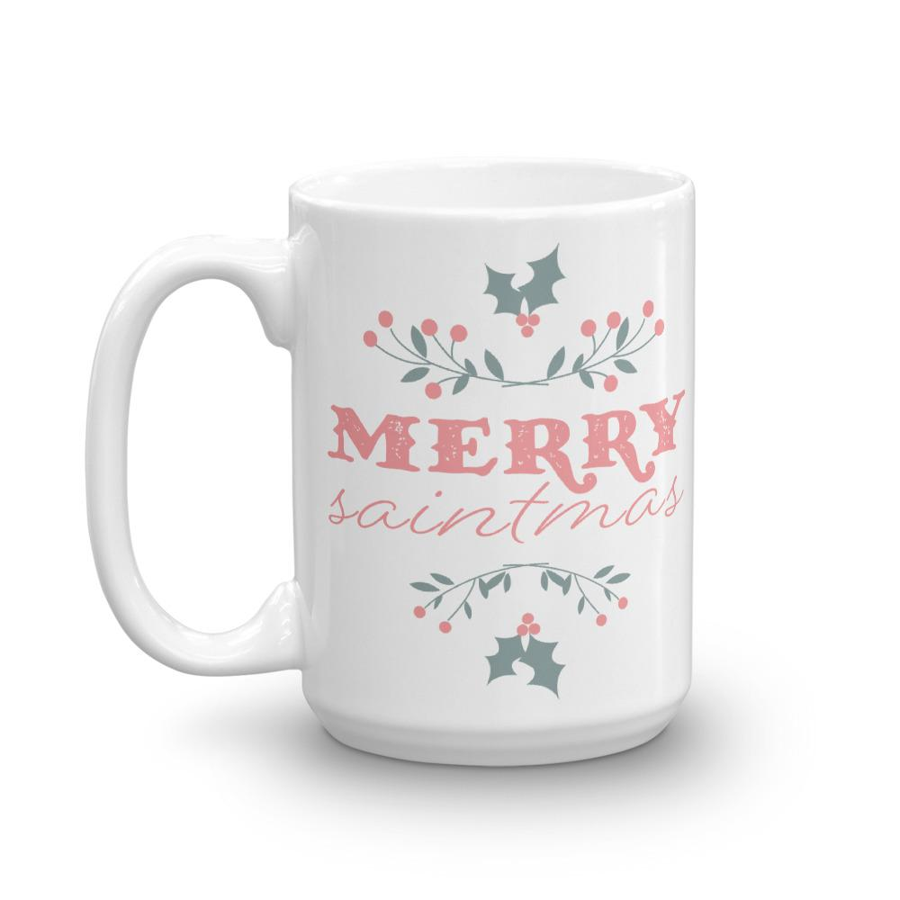 Merry Saintmas Christmas Mug - Lucy + Norman