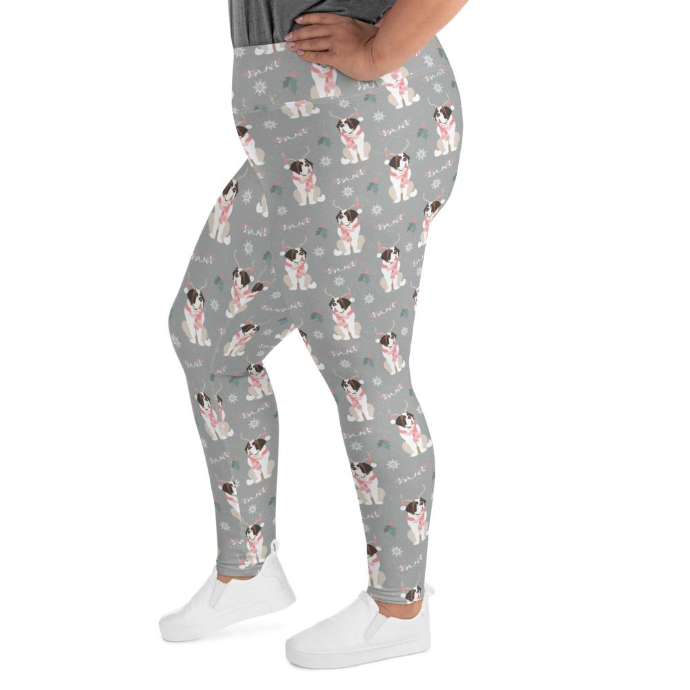 Merry Saintmas - Christmas Plus Size Legging - Lucy + Norman