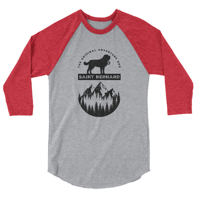 Saint Bernard The Original Adventure Dog Raglan Shirt