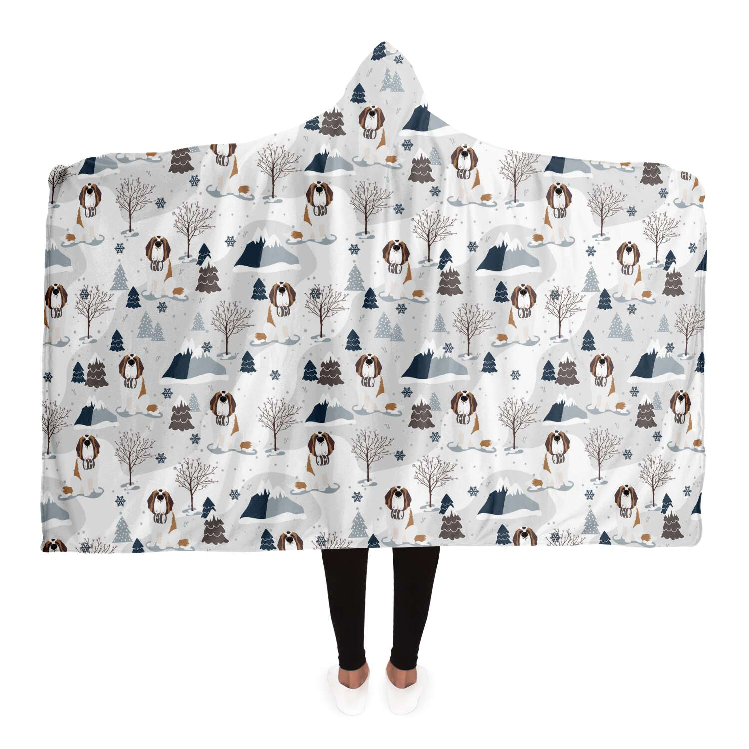 Snowy Alpine Hooded Blanket - Lucy + Norman