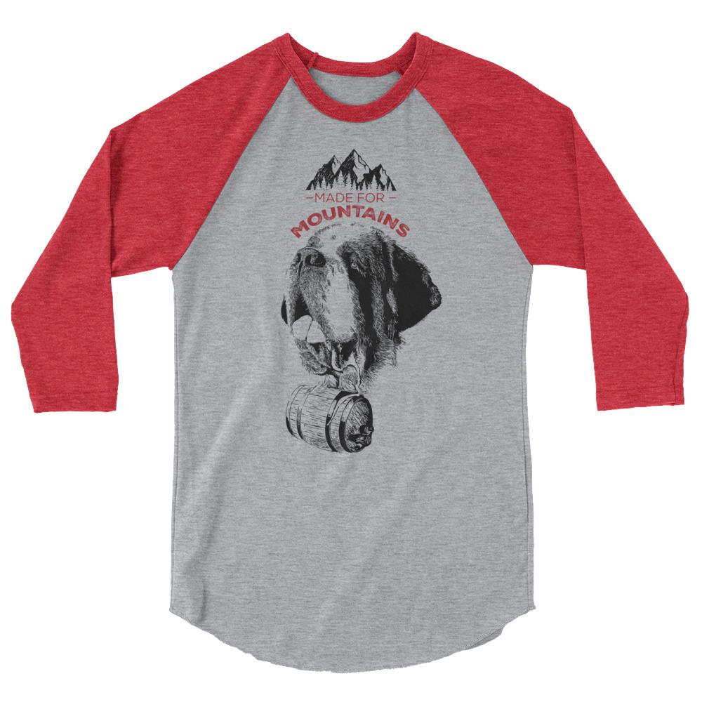 St Bernard Norman Made for Mountains 3/4 Sleeve Raglan Shirt - Lucy + Norman