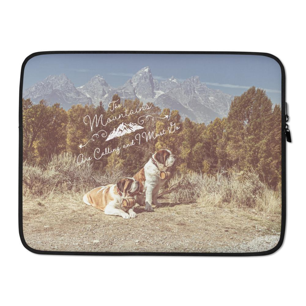 The Mountains Are Calling Saint Bernards Laptop Sleeve - Lucy + Norman