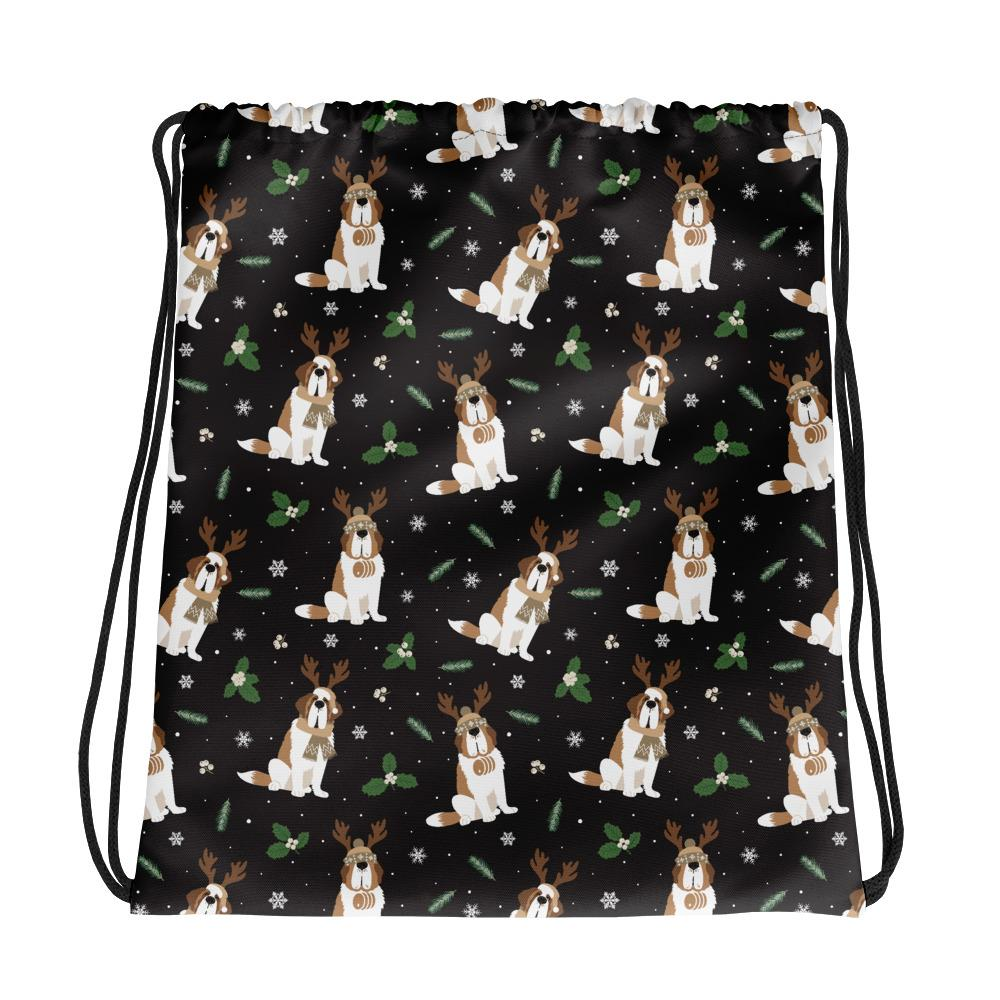 Winter Pines Drawstring Bag - Lucy + Norman