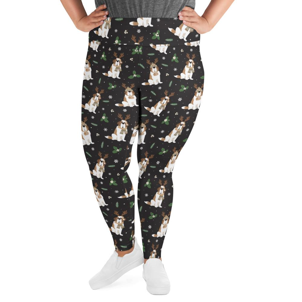 Winter Pines Plus Size Leggings - Lucy + Norman