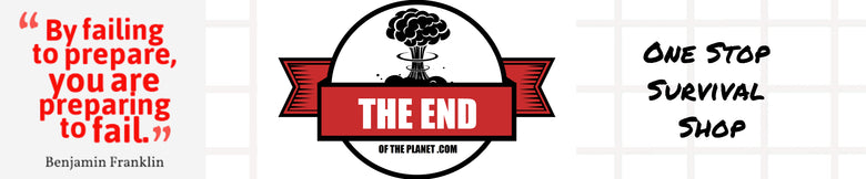 The End of The Planet Logo Banner One Stop Survival Shop