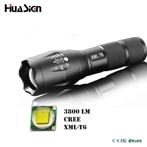 CREE XML T6 3800LM Zoomable - LED Flashlight Waterproof
