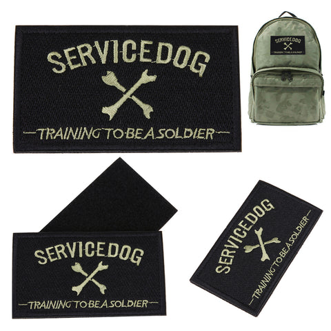 Tactical Patch SERVICE DOG Military Patches for Dog Training 3D Embroidery Badge Clothing