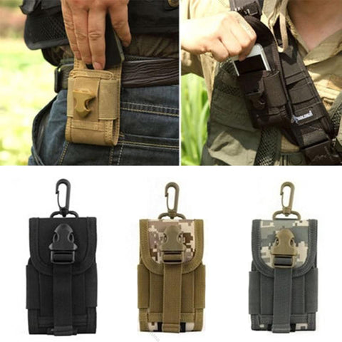 Outdoor Mobile Pouch Cell Phone with Buckle Waist Military Style Clothing Bag