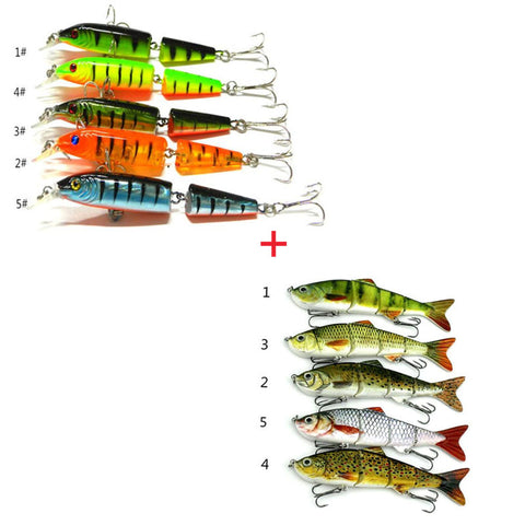 2 x Fishing Lures with Hooks Assorted Fish Tackle (Colours May Vary)