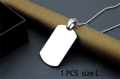 Dog Tags - Engraved for Free -  Necklaces Stainless Steel Pendants Military Army ID Tag Essentials