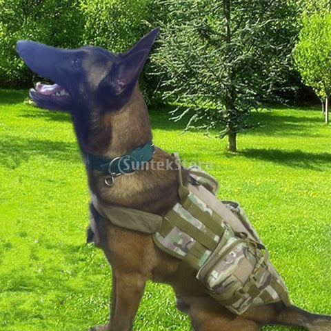 Tactical Military Dog Vest with Bag - Police Dog Vest