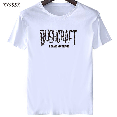 Slim Fit Top Short Sleeve Hipster Tees Bushcraft & Survival Leave No Trace T Shirts