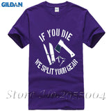 Top Bushcraft & Survival If You Die T-Shirt - Men All Sizes Tee Shirts