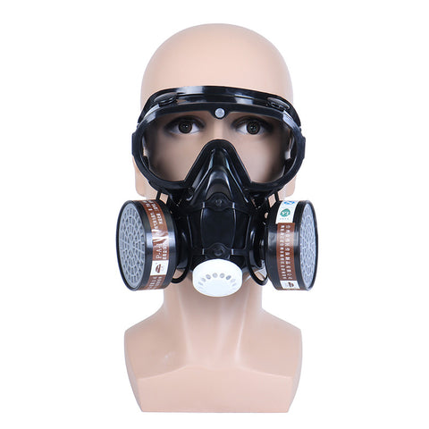 Respirator Gas Mask Safety Chemical Anti-Dust Goggles