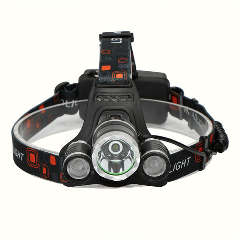 XML T6 + 2pcs XPE T6 LED Headlight Torch Flashlight Rechargeable 4 Light Modes US/EU Plugs