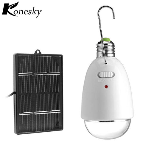 Solar Power Emergency lights LED Bulb Rechargeable Lamp Remote Control