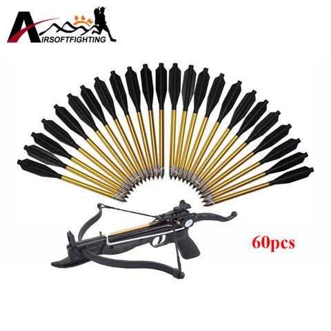 "60 Pack Aluminum Bolt 6.2"" Length Arrow Archery 50 lb/80 lb Crossbow Hunting"