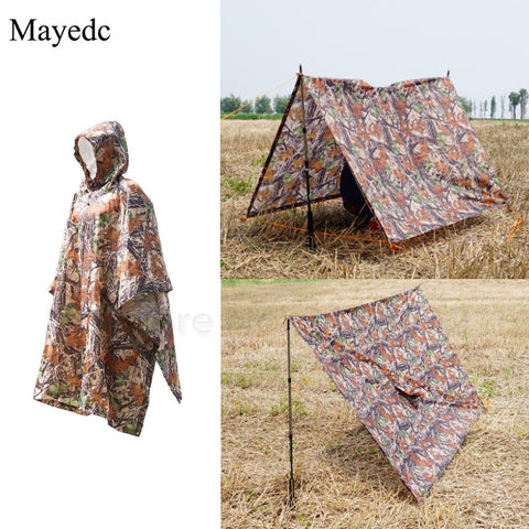 Multi Equipment Rain Poncho Rain Cover Tent Awning Jacket