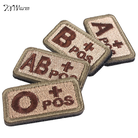 Military Blood Types 3D Embroidered Emblem Armband Clothing Essentials