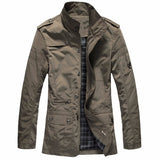 Mens Zipper Jacket Coats Military Style