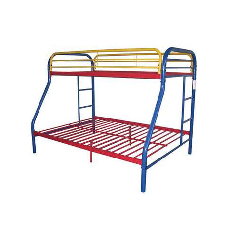 Twin/Full Bunk Bed, Rainbow - Metal Tube Rainbow