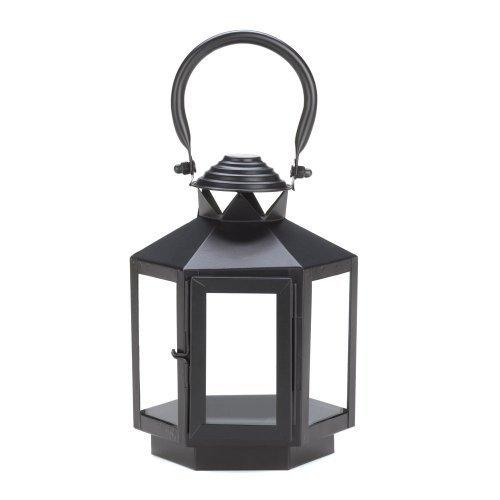 Black Hexagonal Candle Lantern (pack of 1 EA)