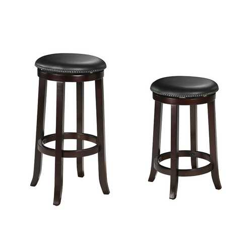 Chelsea Counter Height Stool with Swivel (Set-2), PU & Espresso