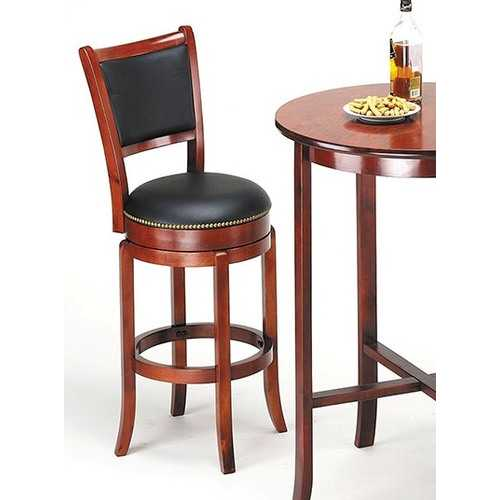 Bar Chair with Swivel, Oak - Birch Wood Oak